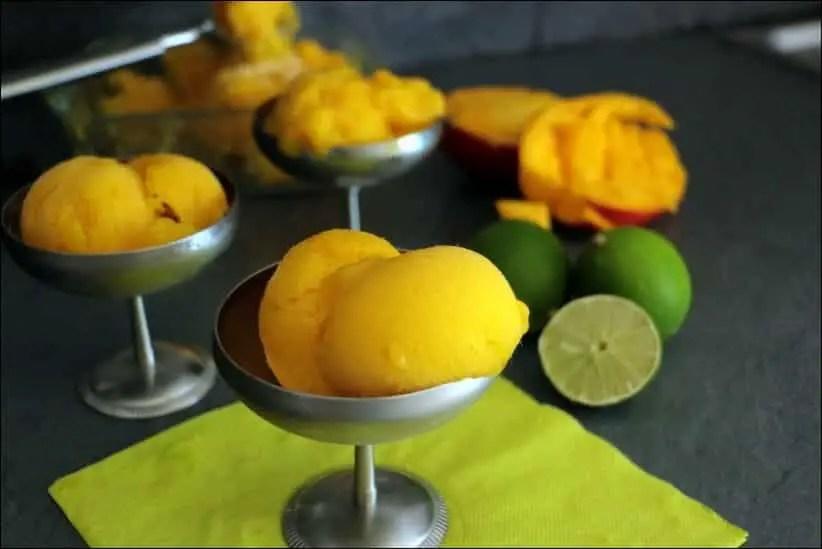 sorbet mangue fraiche