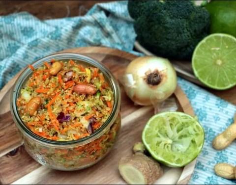 taboulé de quinoa aux saveurs asiatiques