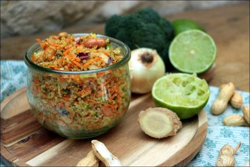 taboulé quinoa asiatique
