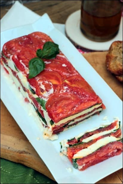 terrine tomate mozza