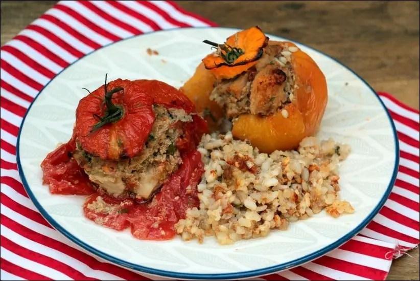 tomates farcies veau et riz