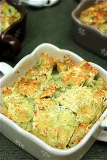 ravioles creme beurre ail
