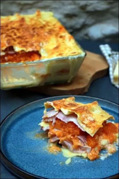 lasagnes courge et béchamel
