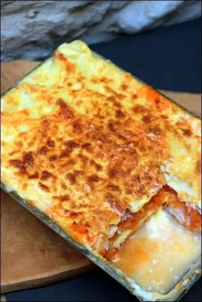 lasagnes potiron jambon bechamel