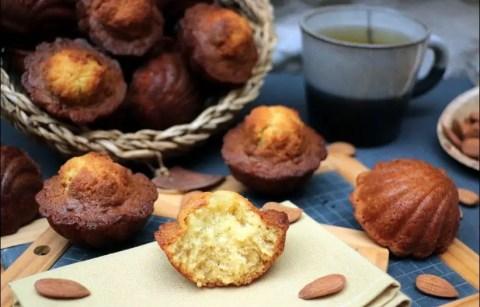 madeleines à l'amande amère et miel