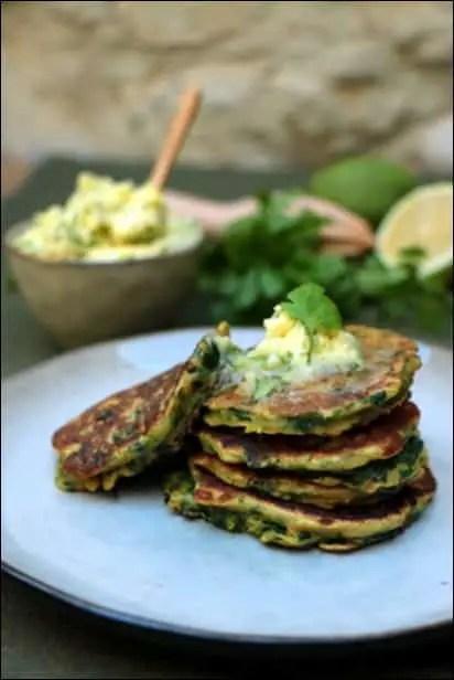 pancakes verts ottolenghi
