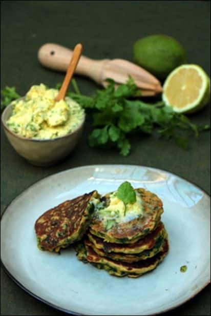 pancakes epinards beurre citron vert