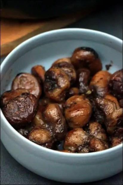 marrons sautés à la poele