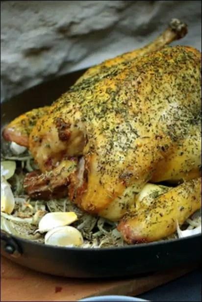 poulet roti facile