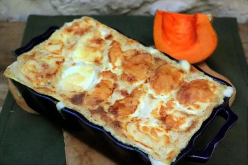 lasagnes potiron chevre bechamel