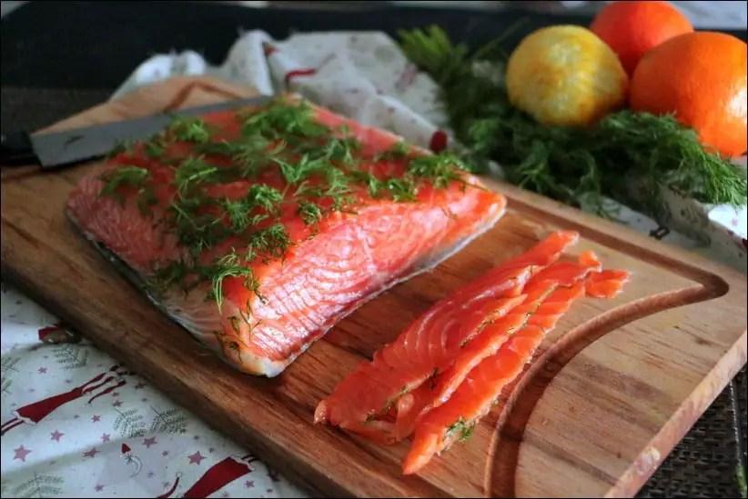 saumon gravlax aux agrumes