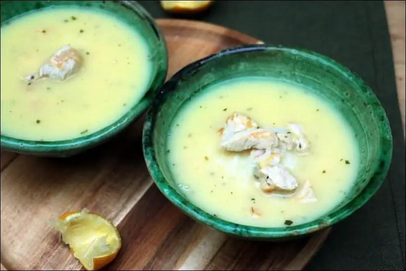 soupe poulet riz citron