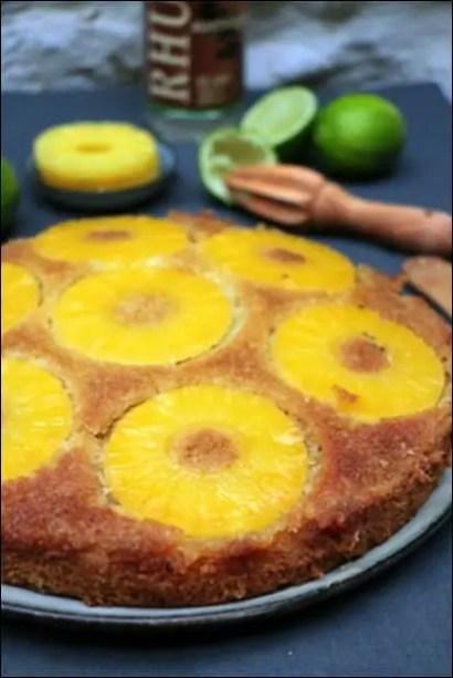gateau ananas bien gonflé