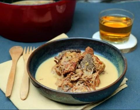 Mijoté de veau au cidre et aux morilles