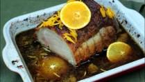 rôti de porc à l'orange