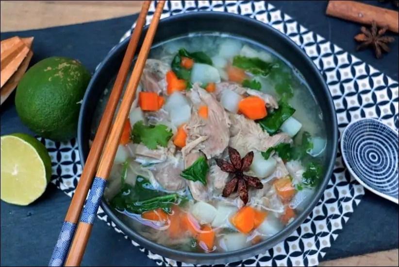 soupe legumes porc
