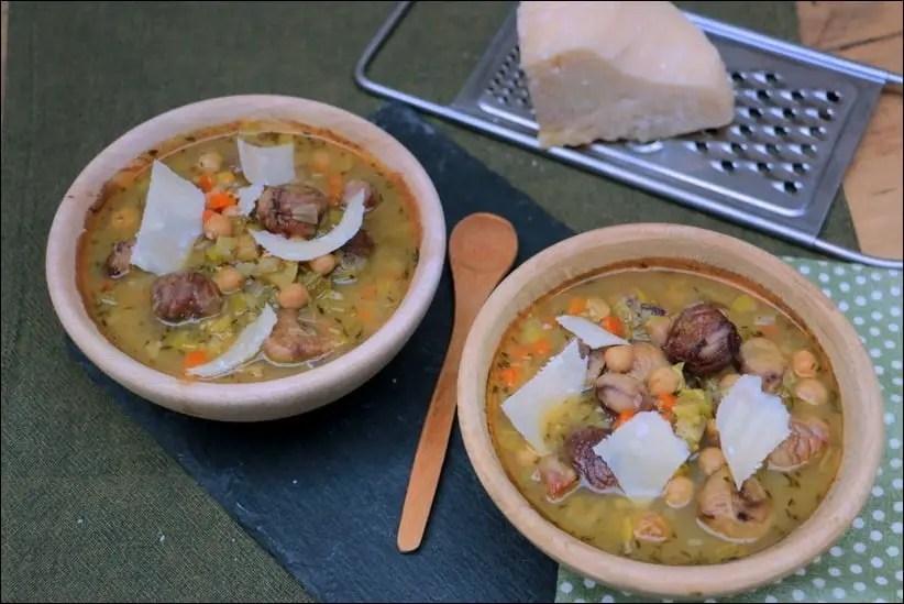 soupe pois chiche bouillon