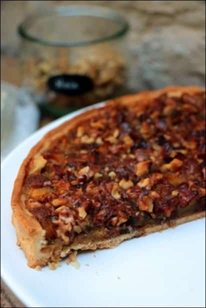 tarte d'automne pommes noix
