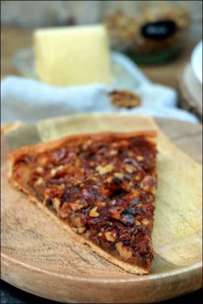 tarte d'automne pomme noix miel