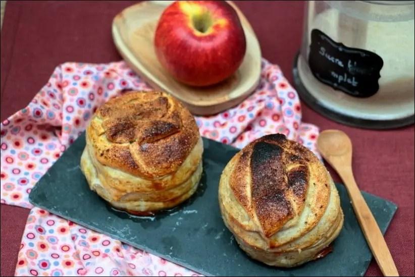 pomme au four en pate feuilletée
