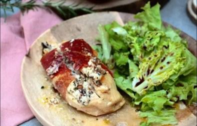 escalopes de poulet farcies au chèvre et olives de Laurent Mariotte