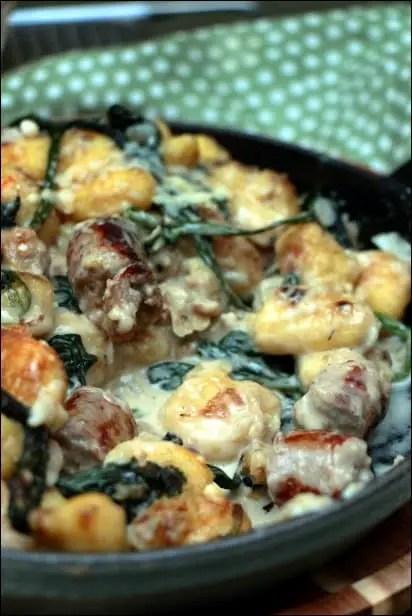 gnocchi épinards crème parmesan