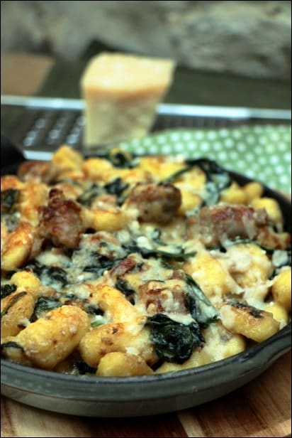gnocchi epinard parmesan