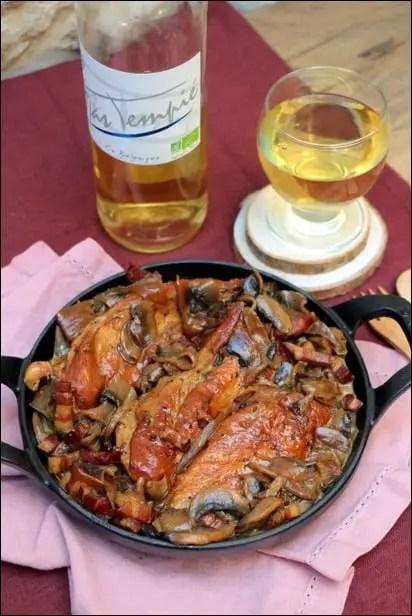 poulet champignon vin blanc