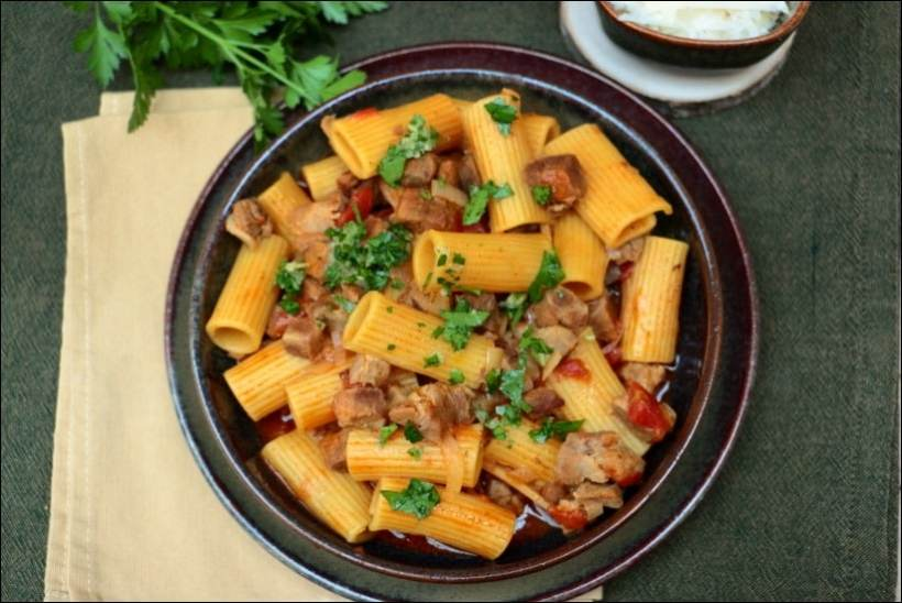 pastasotto porc tomate