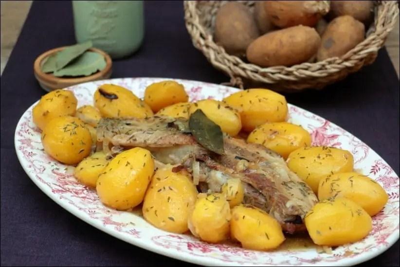 travers de porc pomme de terre romarin