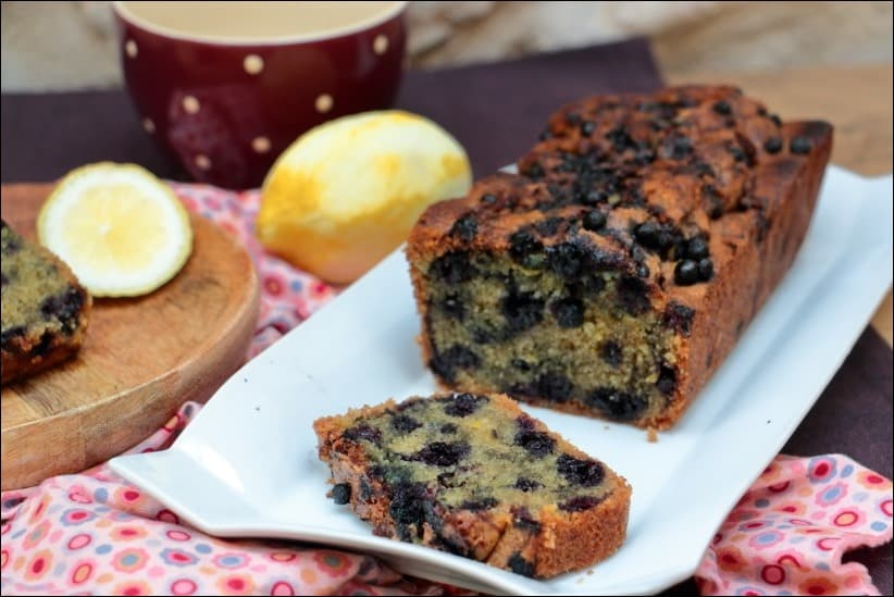 cake myrtilles citron amandes