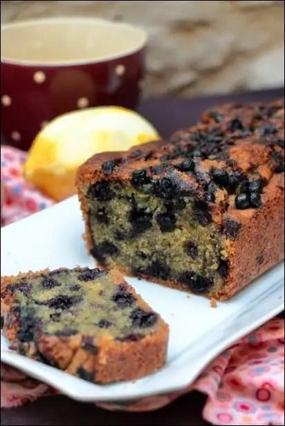 cake myrtilles citron et amandes