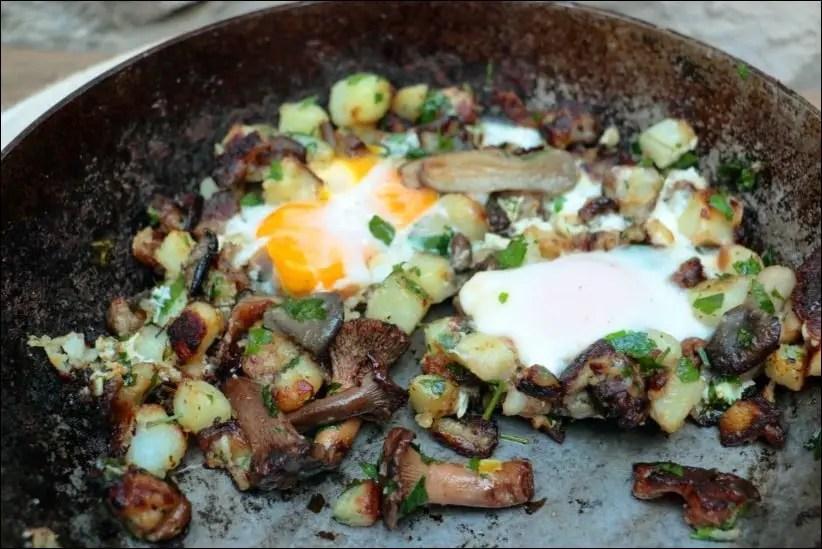 poelee champignon oeuf