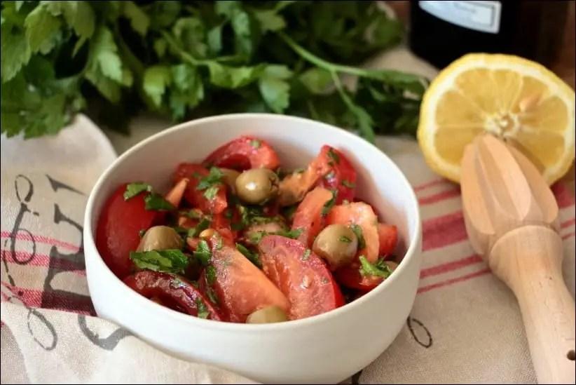 salade tomate et sans oignon