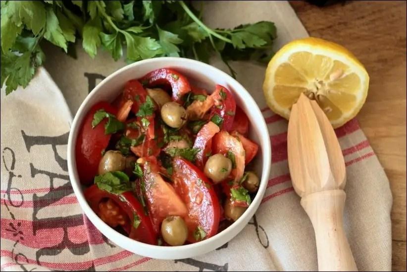 salade de tomates vinaigrette