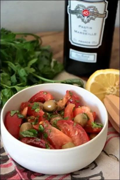 salade tomate persil anisée