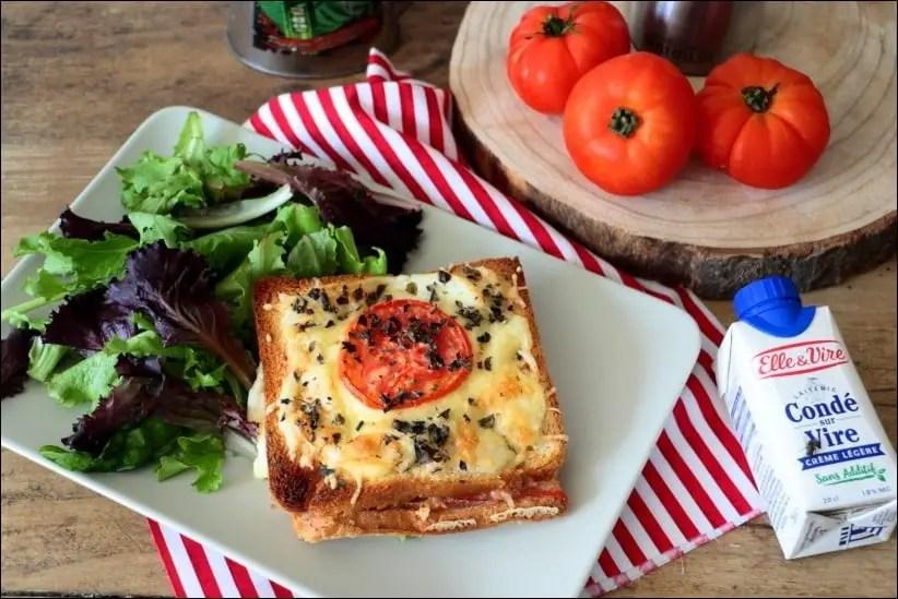 croque monsieur tomate mozza