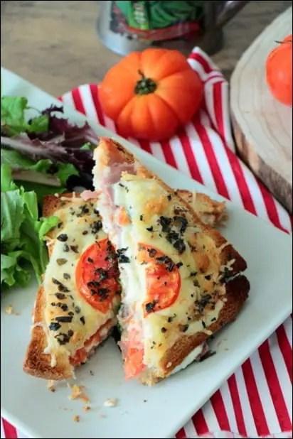 croque monsieur jambon mozzarella