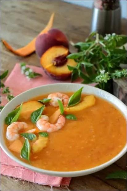 soupe froide melon basilic