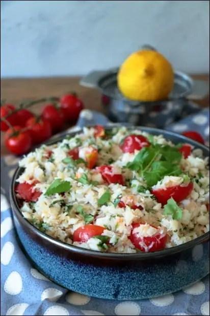 salade cabillaud tomates