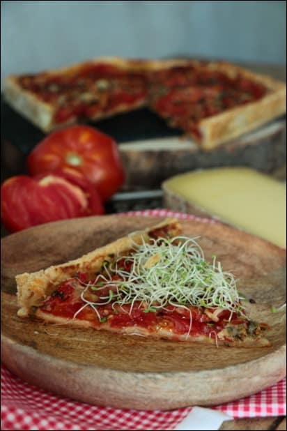 tarte d'été tomate