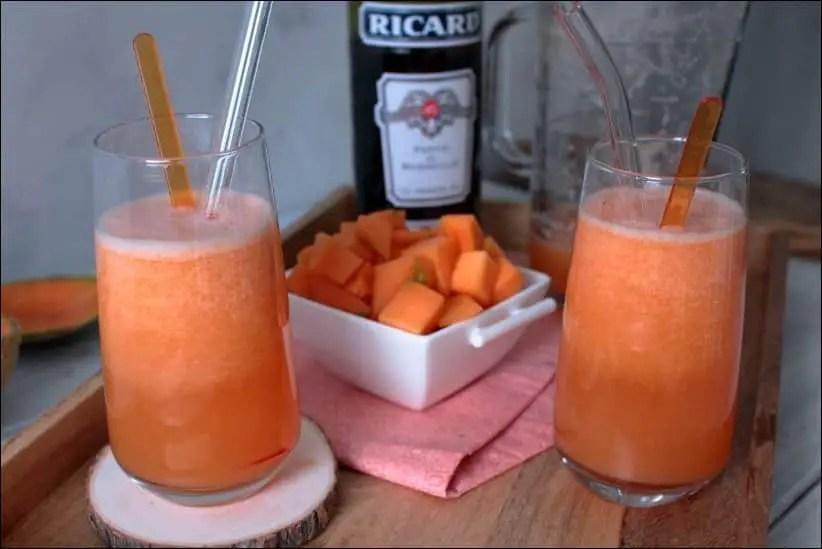 cocktail au melon et pastis