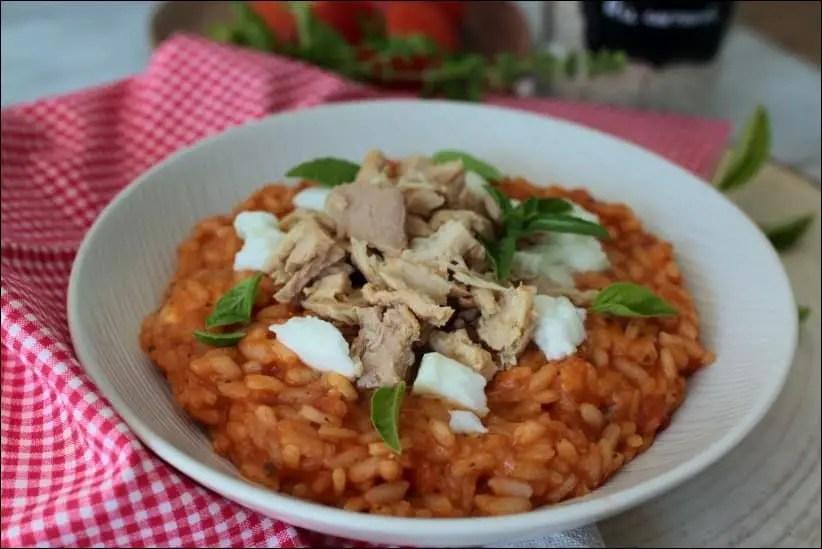 risotto à la sauce tomate