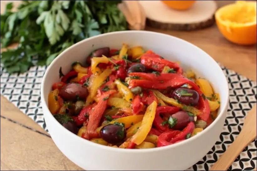 salade poivron grillé
