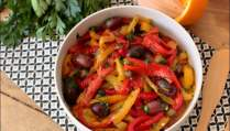 salade de poivrons olives et orange