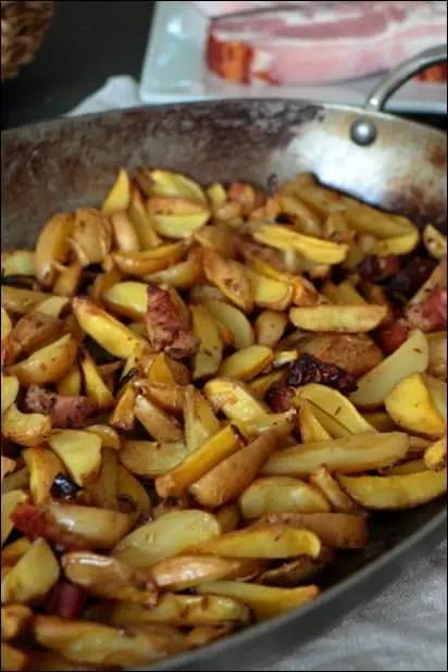 pomme de terre lard au four