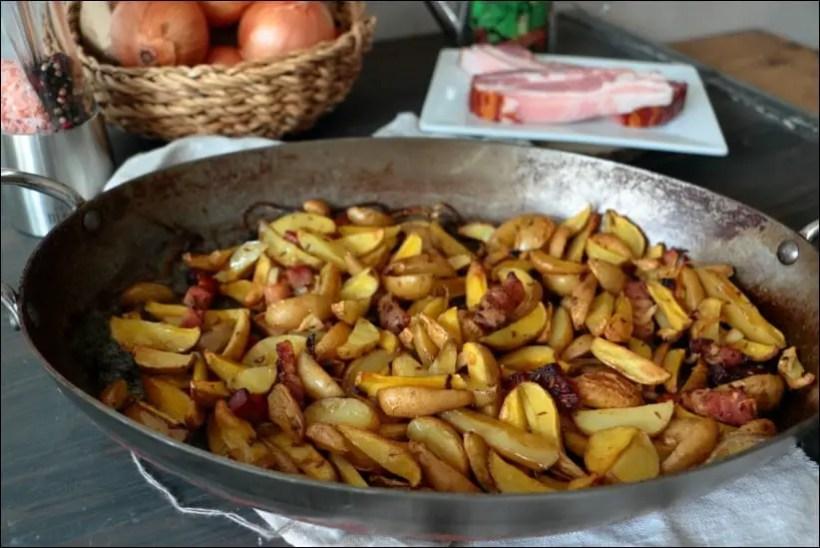 pomme de terre lardon oignon au four