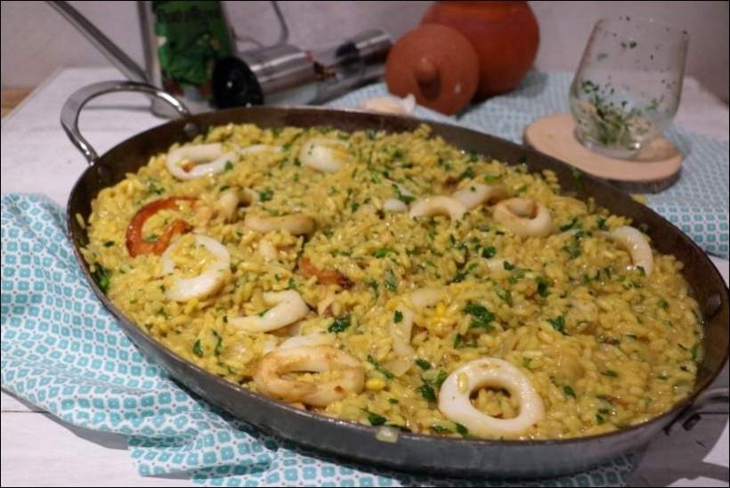 riz aux calamars