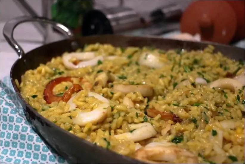 riz calamars persillade