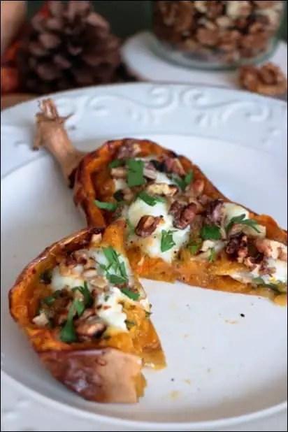 butternut rotie noix cerfeuil mozzarella